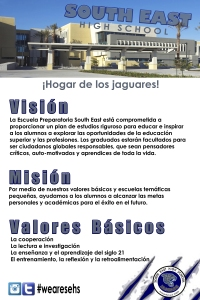 SEHS Vision Mission PRIDE Poster Span